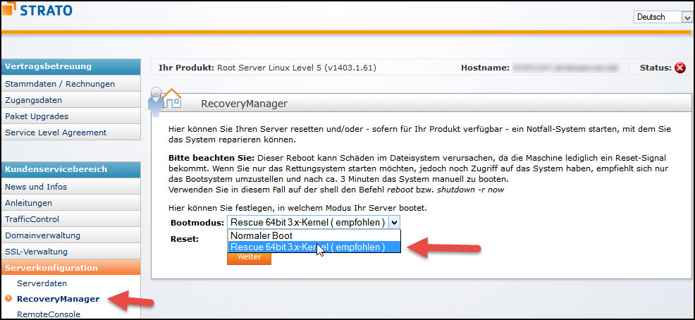 Strato Recovery Manager