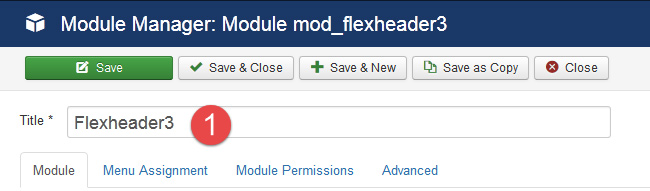 Flexheader Module Settings 1