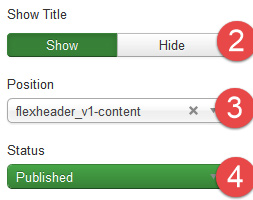 Flexheader Module Settings 1a
